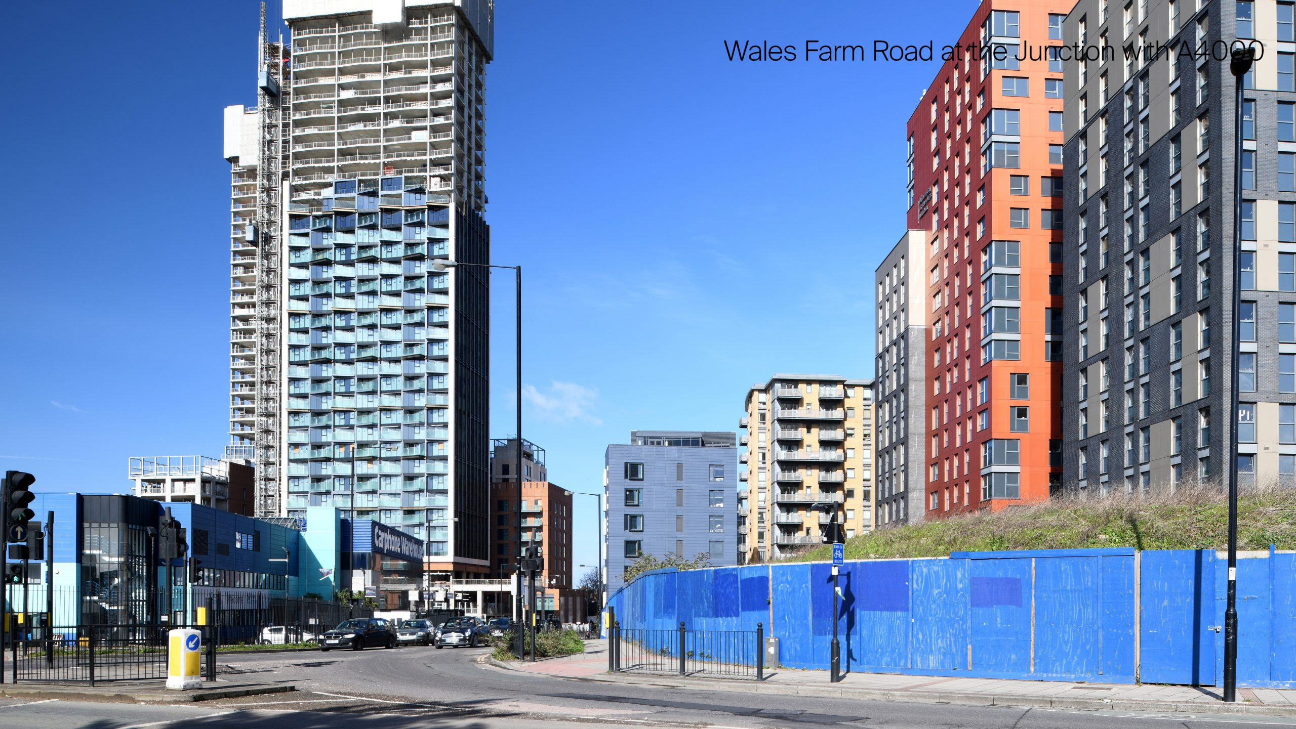 Picture of the existing site and North Acton